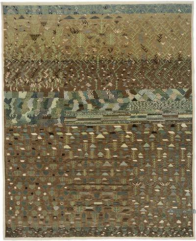 """New Hand Knotted Wool Oushak Rug - 6' 6"""" x 7' 11"""" (78 in. x 95 in.)"""