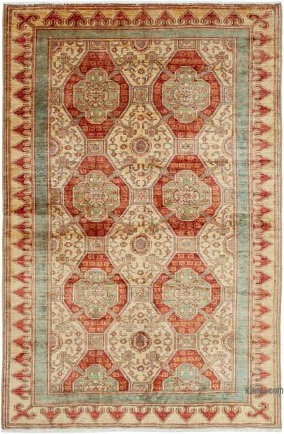 "New Hand Knotted All Wool Oushak Rug - 6'1"" x 9' (73 in. x 108 in.)"