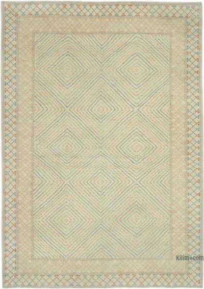 "New Hand Knotted All Wool Oushak Rug - 6'2"" x 8'9"" (74 in. x 105 in.)"