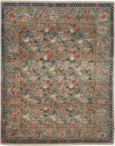 "New Hand Knotted All Wool Oushak Rug - 6'9"" x 8'4"" (81 in. x 100 in.)"