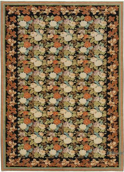 """New Hand Knotted All Wool Oushak Rug - 7' 4"""" x 10'  (88 in. x 120 in.)"""