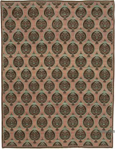 """New Hand Knotted All Wool Oushak Rug - 9'  x 11' 11"""" (108 in. x 143 in.)"""