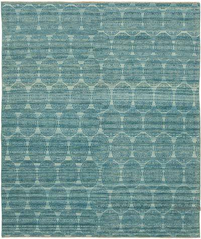 """New Hand Knotted Wool Oushak Rug - 8' 4"""" x 9' 10"""" (100 in. x 118 in.)"""