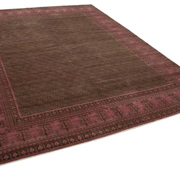 """Fuchsia New Hand Knotted Wool Oushak Rug - 7' 10"""" x 10'  (94 in. x 120 in.) - K0040855"""
