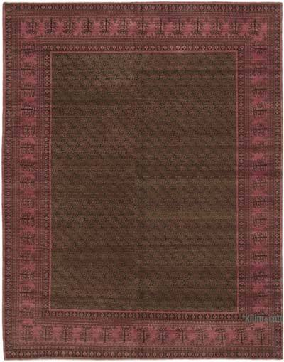 """Fuchsia New Hand Knotted Wool Oushak Rug - 7' 10"""" x 10'  (94 in. x 120 in.)"""