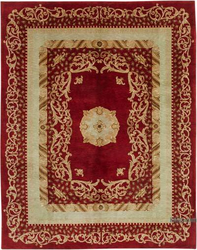 "New Hand Knotted All Wool Oushak Rug - 8' 2"" x 10' 4"" (98 in. x 124 in.)"