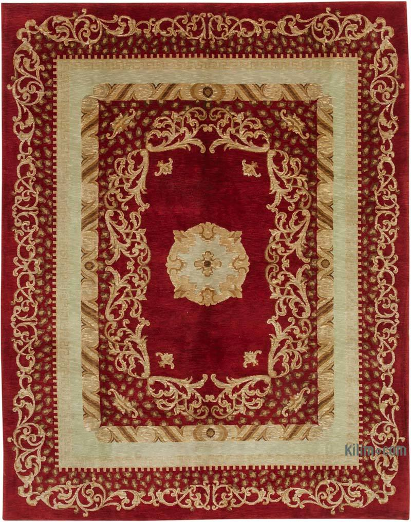 """New Hand Knotted Wool Oushak Rug - 8' 2"""" x 10' 4"""" (98 in. x 124 in.) - K0040859"""