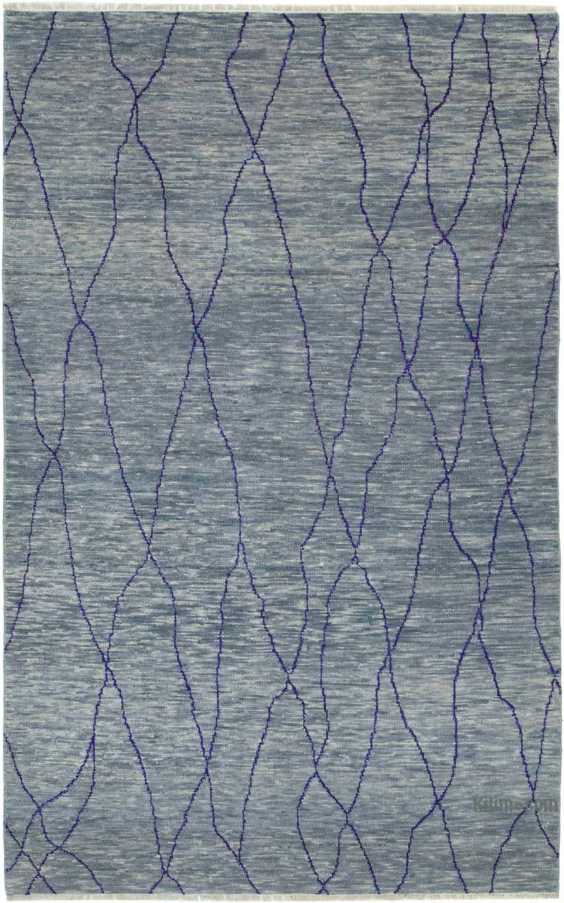 """New Hand Knotted Wool Oushak Rug - 6'  x 9' 5"""" (72 in. x 113 in.) - K0040861"""