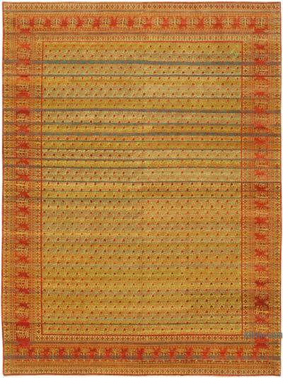 "New Hand Knotted All Wool Oushak Rug - 9'  x 12' 2"" (108 in. x 146 in.)"