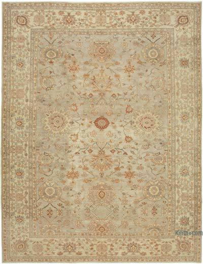"New Hand Knotted All Wool Oushak Rug - 9' 9"" x 12' 8"" (117 in. x 152 in.)"