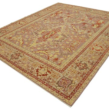 """Purple New Hand Knotted Wool Oushak Rug - 7' 10"""" x 10' 1"""" (94 in. x 121 in.) - K0040874"""