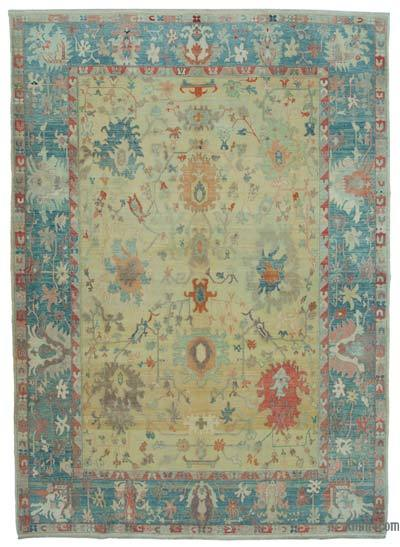 """New Hand Knotted All Wool Oushak Rug - 9' x 12'5"""" (108 in. x 149 in.)"""