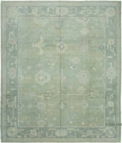 "New Hand Knotted All Wool Oushak Rug - 11'7"" x 13'7"" (139 in. x 163 in.)"