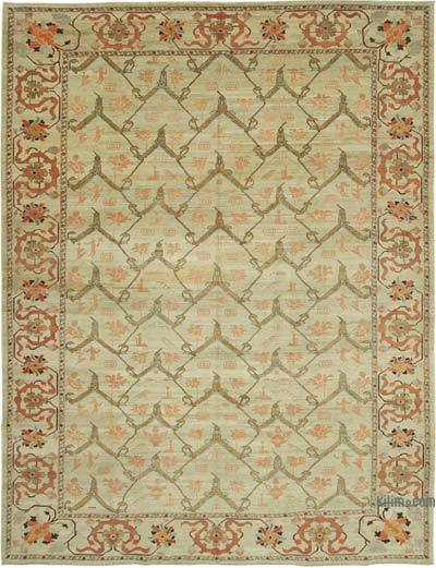 """New Hand Knotted All Wool Oushak Rug - 9'10"""" x 12'9"""" (118 in. x 153 in.)"""