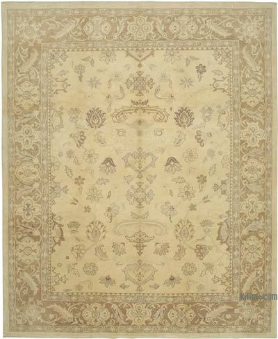 "New Hand Knotted All Wool Oushak Rug - 10' 2"" x 12' 6"" (122 in. x 150 in.)"
