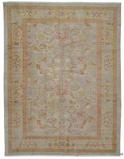 "New Hand Knotted All Wool Oushak Rug - 10' 6"" x 13' 9"" (126 in. x 165 in.)"