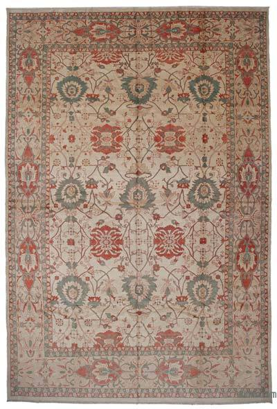 New Hand Knotted All Wool Oushak Rug - 12' x 18' (144 in. x 216 in.)