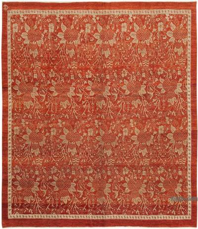 "New Hand Knotted All Wool Oushak Rug - 8' 7"" x 9' 11"" (103 in. x 119 in.)"