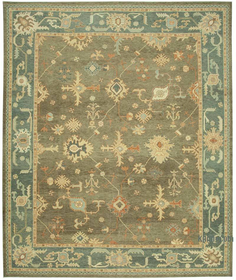 """New Hand Knotted Wool Oushak Rug - 10' 11"""" x 13'  (131 in. x 156 in.) - K0040923"""
