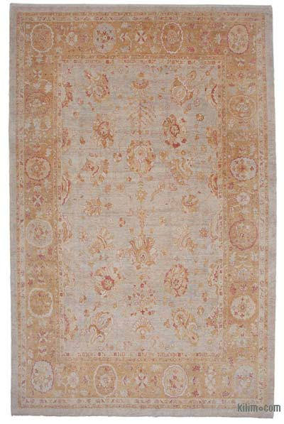 "New Hand Knotted All Wool Oushak Rug - 10' 2"" x 15' 9"" (122 in. x 189 in.)"