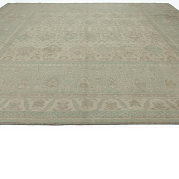 """New Hand Knotted Wool Oushak Rug - 11' 11"""" x 11' 11"""" (143 in. x 143 in.) - K0040935"""