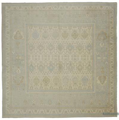 "New Hand Knotted All Wool Oushak Rug - 11'11"" x 11'11"" (143 in. x 143 in.)"