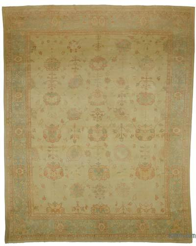 "New Hand Knotted All Wool Oushak Rug - 12'2"" x 15'4"" (146 in. x 184 in.)"