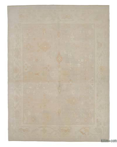 """New Hand Knotted All Wool Oushak Rug - 12'9"""" x 16'8"""" (153 in. x 200 in.)"""