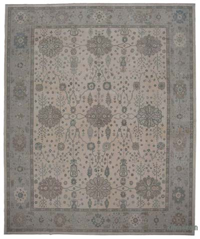"New Hand Knotted All Wool Oushak Rug - 13'1"" x 15'9"" (157 in. x 189 in.)"