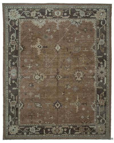 "New Hand Knotted All Wool Oushak Rug - 11' 1"" x 14'  (133 in. x 168 in.)"