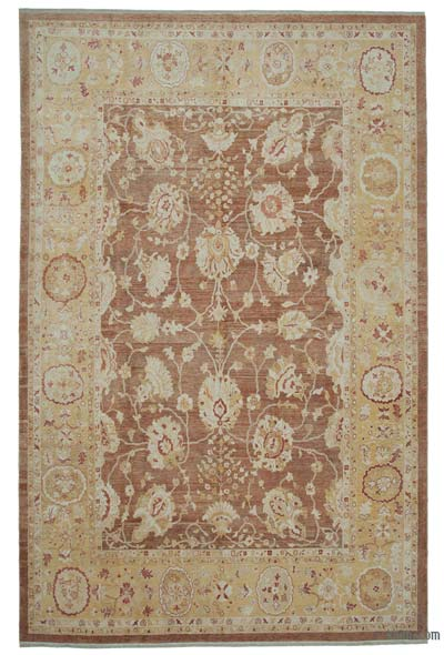 """New Hand Knotted All Wool Oushak Rug - 9'11"""" x 15'1"""" (119 in. x 181 in.)"""