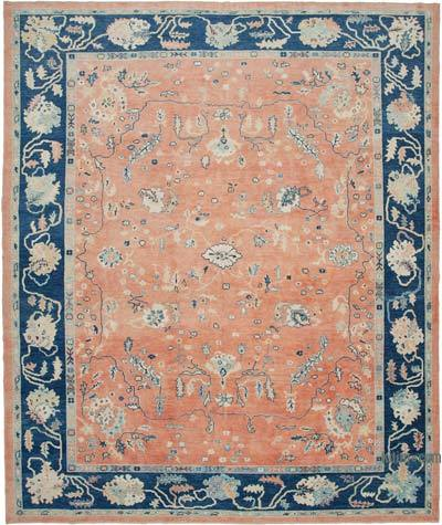 "New Hand Knotted All Wool Oushak Rug - 11' 3"" x 13' 8"" (135 in. x 164 in.)"