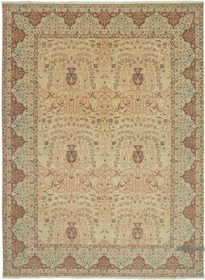 "New Hand Knotted All Wool Oushak Rug - 10' 3"" x 13' 10"" (123 in. x 166 in.)"