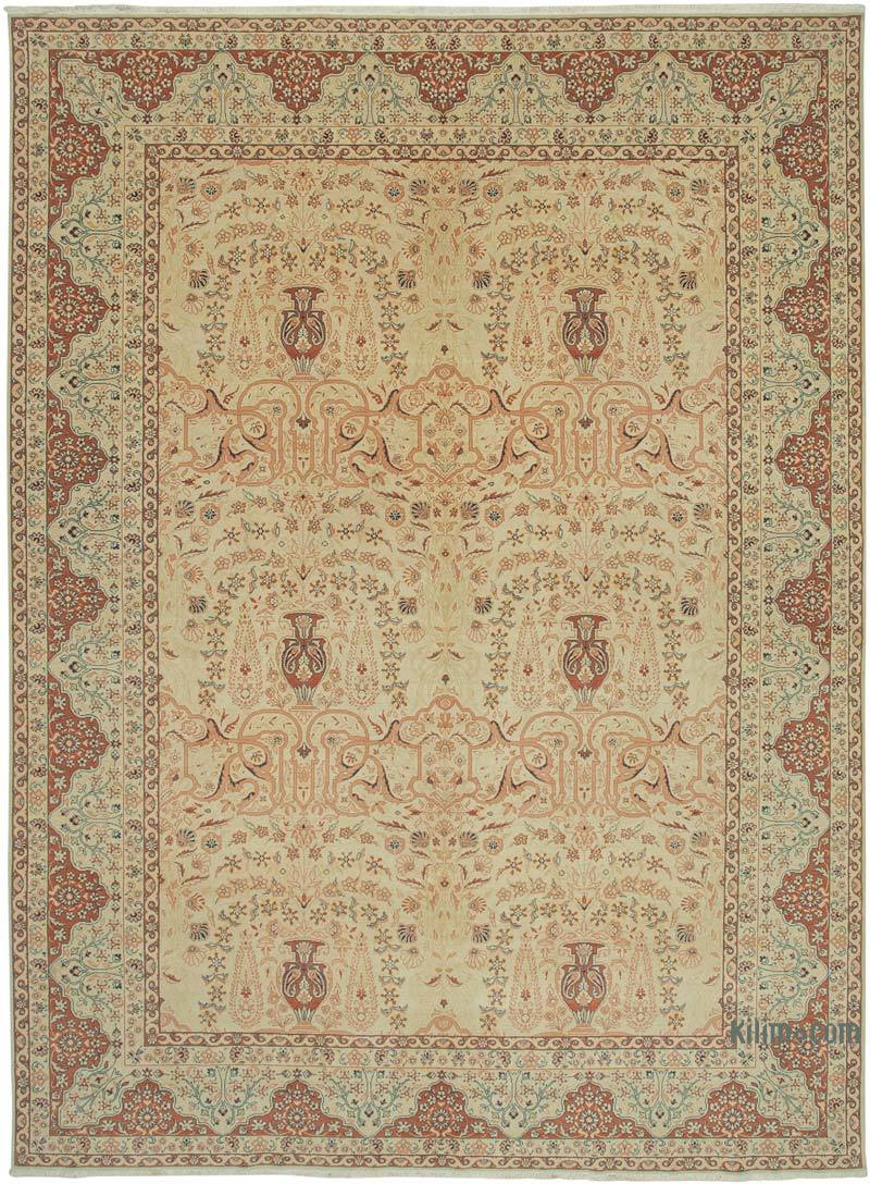 """New Hand Knotted Wool Oushak Rug - 10' 3"""" x 13' 10"""" (123 in. x 166 in.) - K0040954"""