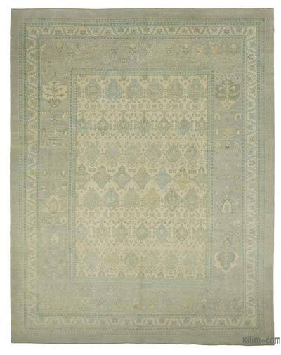 "New Hand Knotted All Wool Oushak Rug - 12'9"" x 16' (153 in. x 192 in.)"