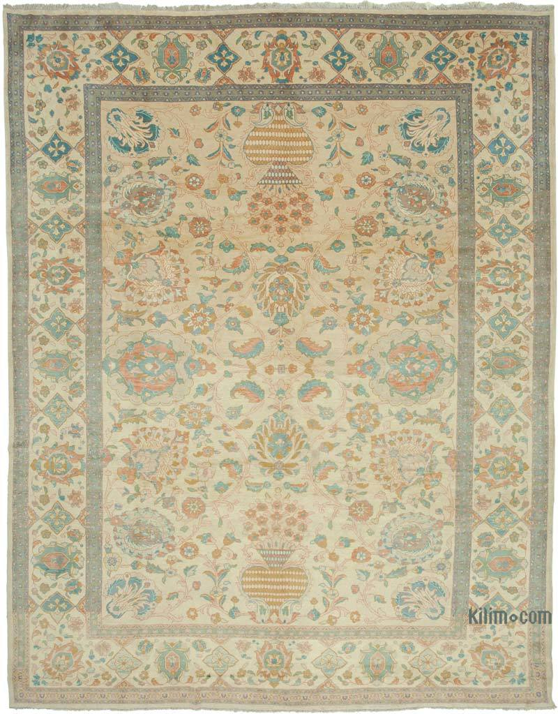 """New Hand Knotted Wool Oushak Rug - 10' 8"""" x 13' 9"""" (128 in. x 165 in.) - K0040964"""