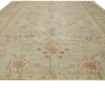 New Hand Knotted Wool Oushak Rug - 10'  x 14'  (120 in. x 168 in.) - K0040967