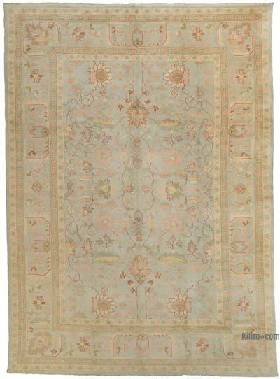 New Hand Knotted All Wool Oushak Rug - 10' x 14' (120 in. x 168 in.)