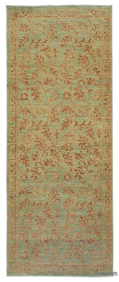"New Hand Knotted All Wool Oushak Rug - 3' x 7'6"" (36 in. x 90 in.)"
