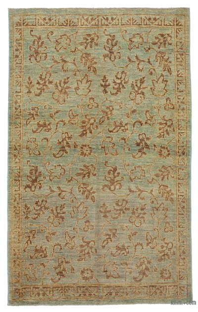 """New Hand Knotted All Wool Oushak Rug - 3' 7"""" x 6' 1"""" (43 in. x 73 in.)"""