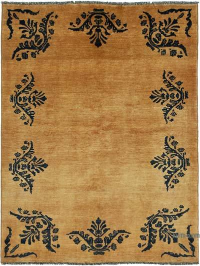 "New Hand Knotted All Wool Oushak Rug - 5'9"" x 7'6"" (69 in. x 90 in.)"