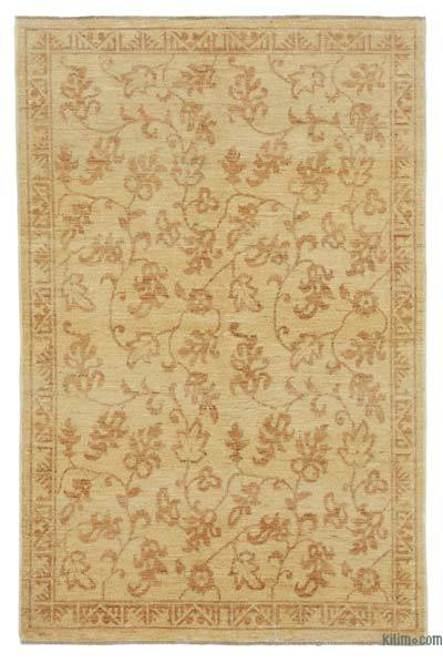 "New Hand Knotted All Wool Oushak Rug - 3' 10"" x 5' 10"" (46 in. x 70 in.)"