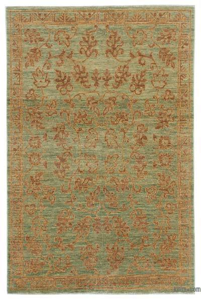 "New Hand Knotted All Wool Oushak Rug - 3'11"" x 5'11"" (47 in. x 71 in.)"