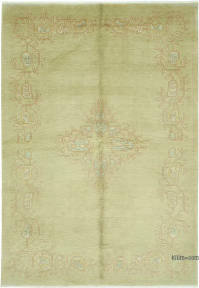 New Hand Knotted All Wool Oushak Rug - 6'  x 9'  (72 in. x 108 in.)
