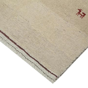 """Beige New Hand Knotted Wool Oushak Rug - 3' 5"""" x 4' 10"""" (41 in. x 58 in.) - K0040993"""