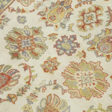 """Beige, Red New Hand Knotted Wool Oushak Rug - 2' 11"""" x 3' 8"""" (35 in. x 44 in.) - K0040997"""