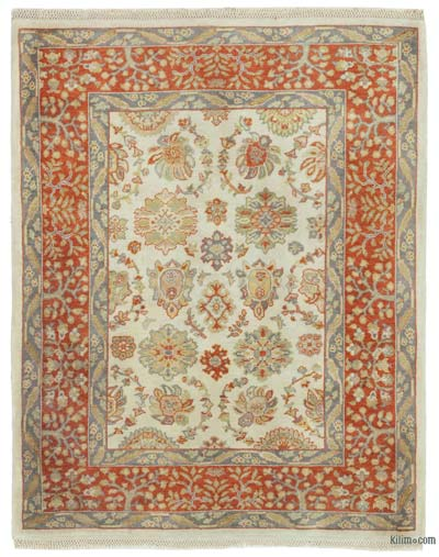 """New Hand Knotted All Wool Oushak Rug - 2' 11"""" x 3' 8"""" (35 in. x 44 in.)"""