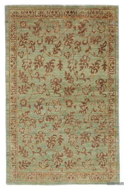 "New Hand Knotted All Wool Oushak Rug - 3' 9"" x 5' 10"" (45 in. x 70 in.)"