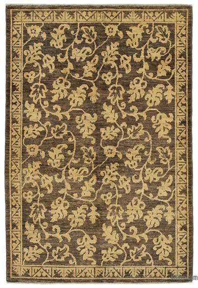 "New Hand Knotted All Wool Oushak Rug - 4'  x 5' 11"" (48 in. x 71 in.)"