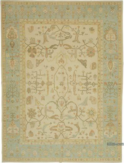 """New Hand Knotted All Wool Oushak Rug - 8'6"""" x 11'3"""" (102 in. x 135 in.)"""